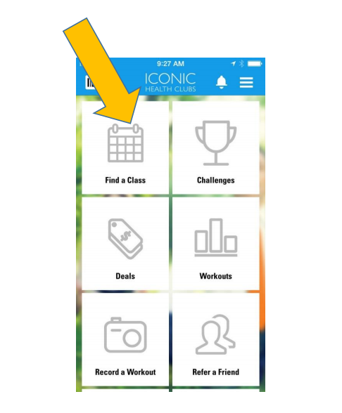 booking a class with Iconic Health Clubs App